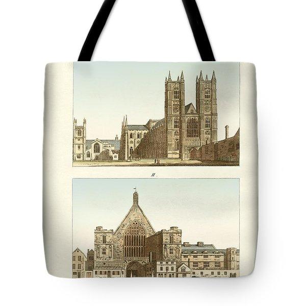 Strange Buildings In London Tote Bag by Splendid Art Prints