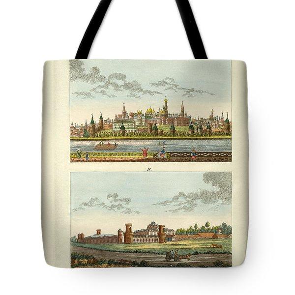 Strange Buildings In Russia Tote Bag by Splendid Art Prints