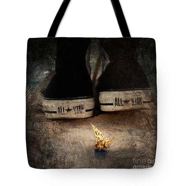Strange Cold Feeling Tote Bag by Stelios Kleanthous