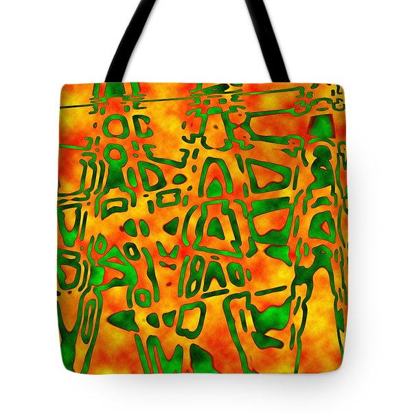 Strange Hieroglyphs Tote Bag by Mark Blauhoefer