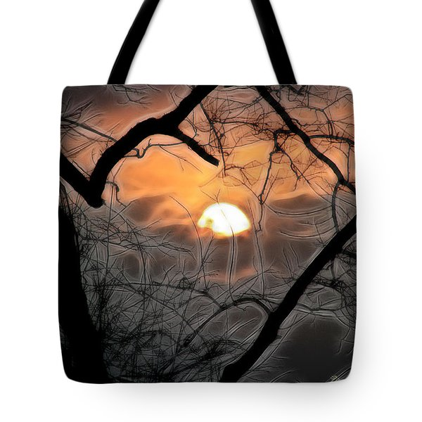 Tote Bag featuring the photograph Strange Morning by EricaMaxine  Price