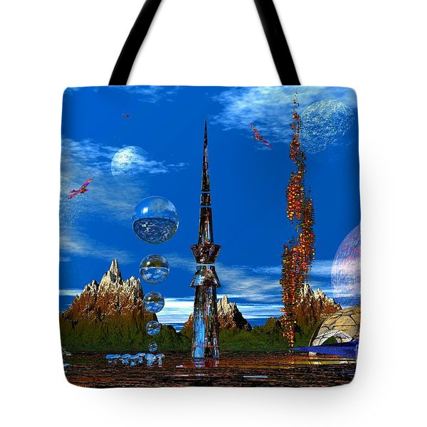 Strange Planet Tote Bag by Mark Blauhoefer