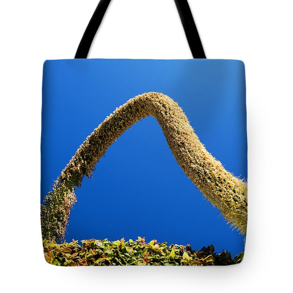Strange Plant Under Blue Sky Tote Bag