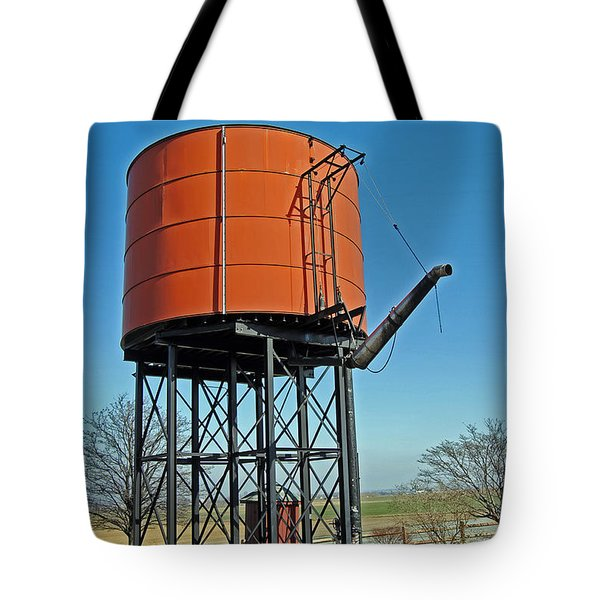 Strasburg Water Tower Tote Bag by Skip Willits