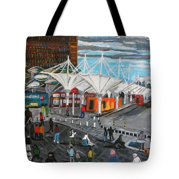 Tote Bag featuring the painting Stratford Bus Station Study 02 by Mudiama Kammoh