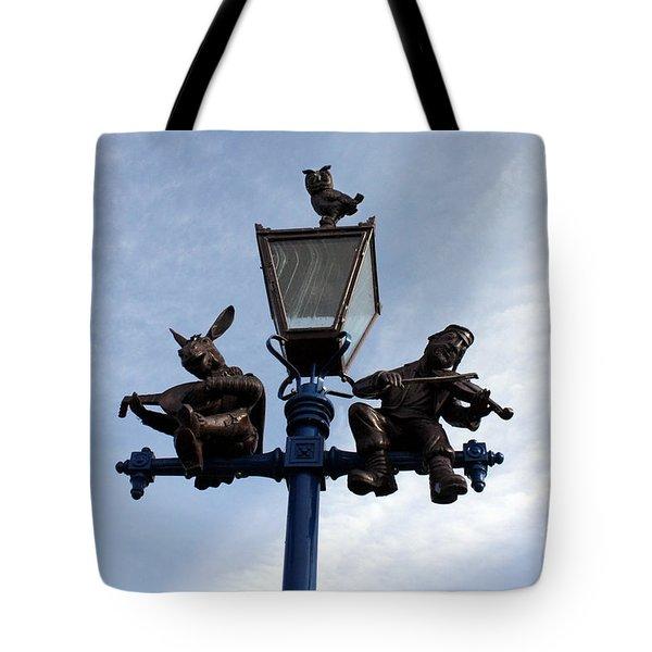Stratford's Jewish Lamp Post Tote Bag by Terri Waters