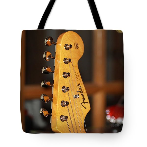 Stratocaster Headstock Tote Bag by Chris Thomas