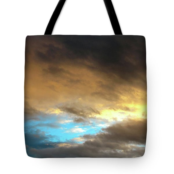 Stratus Clouds At Sunset Bring Serenity Tote Bag