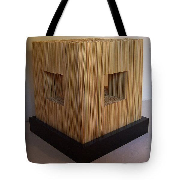 Straw Cube Tote Bag by Daniel P Cronin