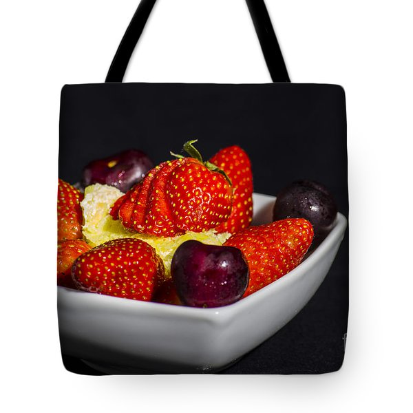 Strawberries And Cream Tote Bag by Brian Roscorla