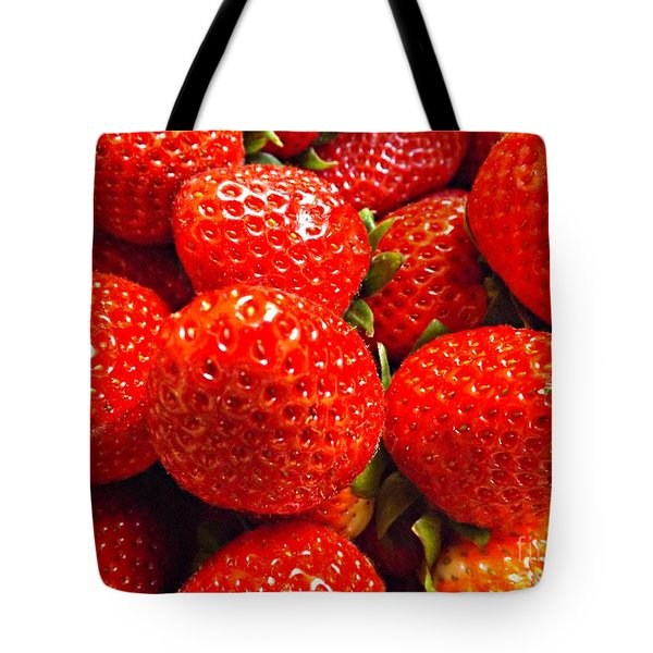 Strawberries Tote Bag by Clare Bevan