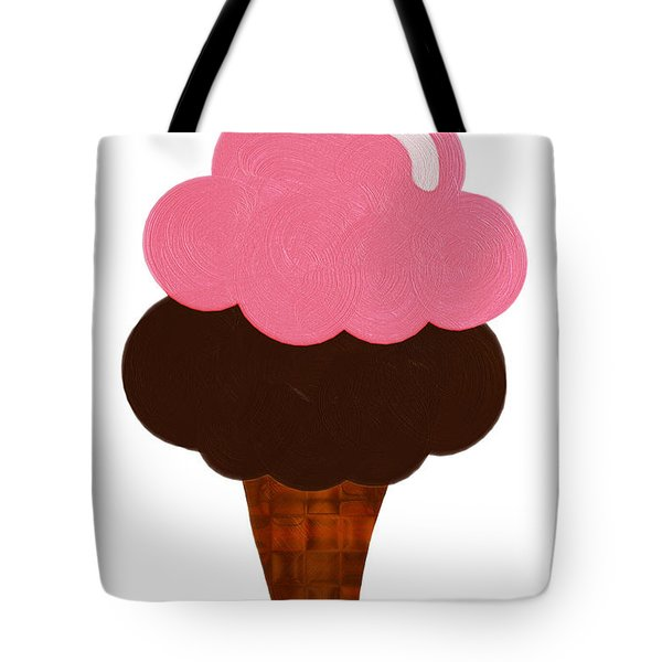 Strawberry And Chocolate Ice Cream Cone  Tote Bag