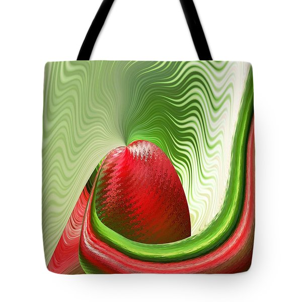 Tote Bag featuring the digital art Strawberry And Fan by rd Erickson