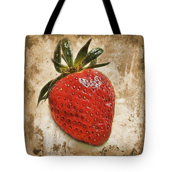 Strawberry  Tote Bag by Barbara Orenya