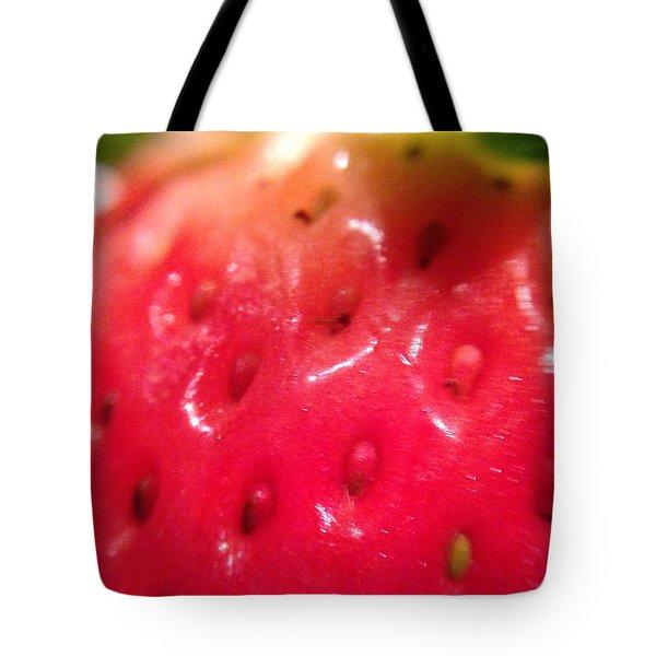 Strawberry Delight Tote Bag by Marian Palucci-Lonzetta