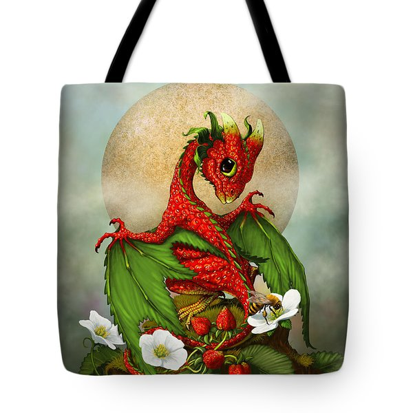 Strawberry Dragon Tote Bag by Stanley Morrison