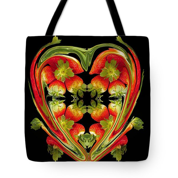 Strawberry Heart Tote Bag