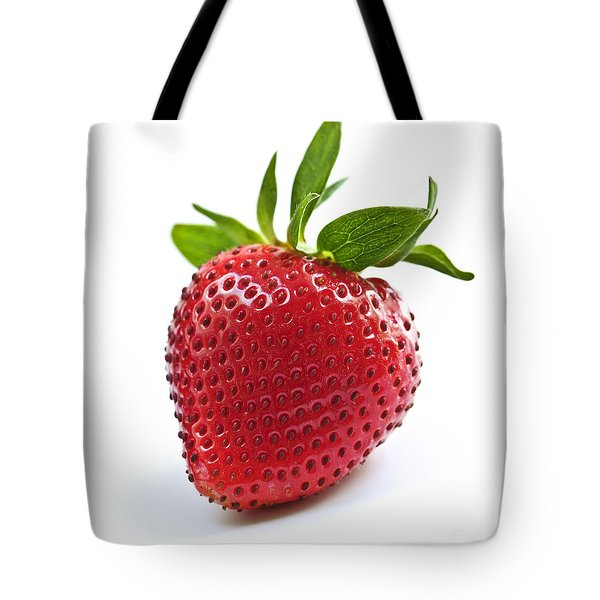 Strawberry on white background Tote Bag by Elena Elisseeva