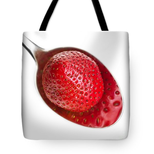 Strawberry Puddle Tote Bag