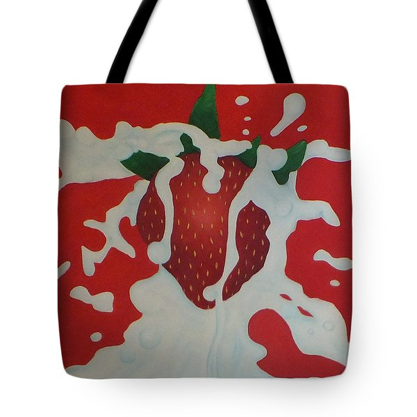 Strawberry Tote Bag by Sven Fischer