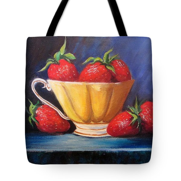 Strawberry Teacup Tote Bag