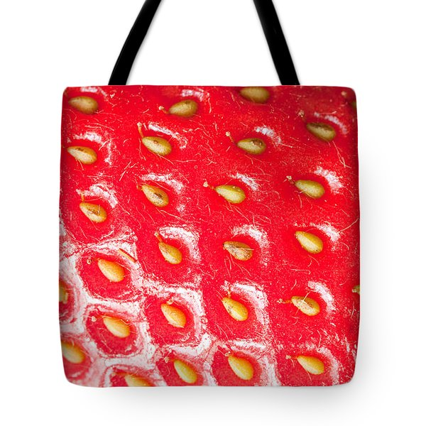 Strawberry Texture Tote Bag by Sharon Dominick