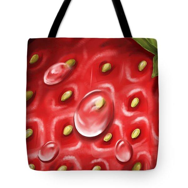 Strawberry Tote Bag by Veronica Minozzi