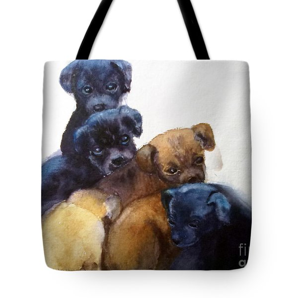 Stray Puppies Tote Bag