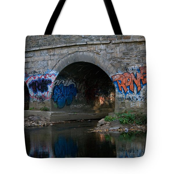 Tote Bag featuring the photograph Stream Art by Greg Graham