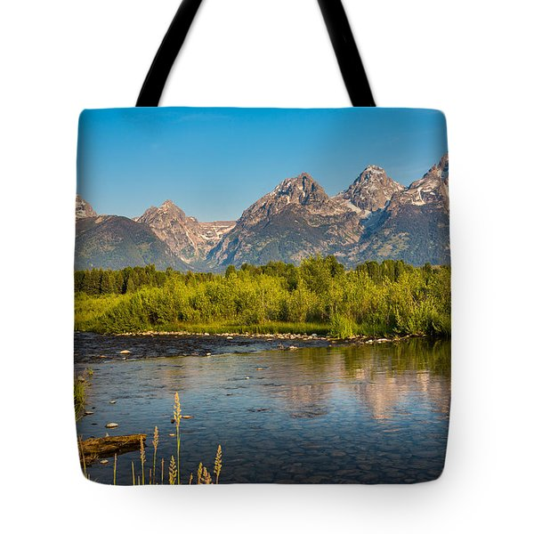 Stream At The Tetons Tote Bag by Robert Bynum