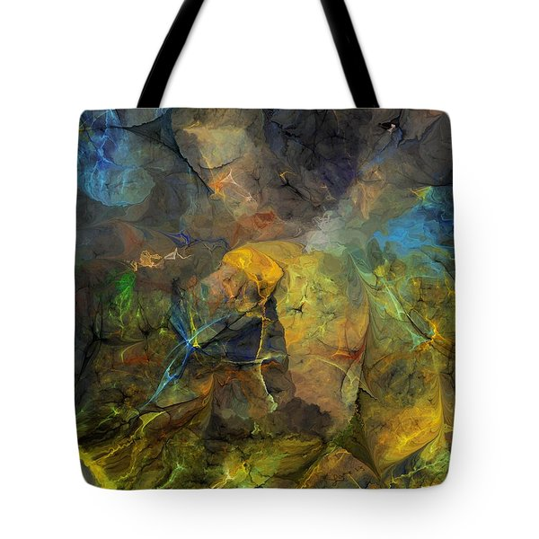 Stream Bed On A Sunny Day Tote Bag