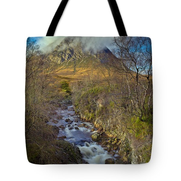 Stream Below Buachaille Etive Mor Tote Bag by Gary Eason