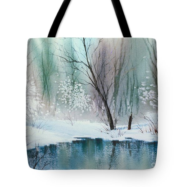 Stream Cove In Winter Tote Bag