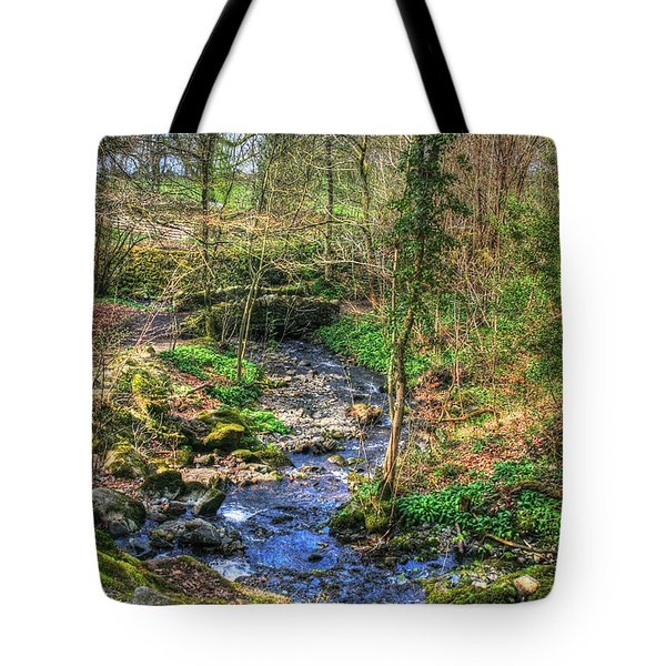 Tote Bag featuring the photograph Stream In Wales by Doc Braham