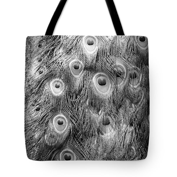 Stream Of Eyes - Black And White Tote Bag by Diane Alexander