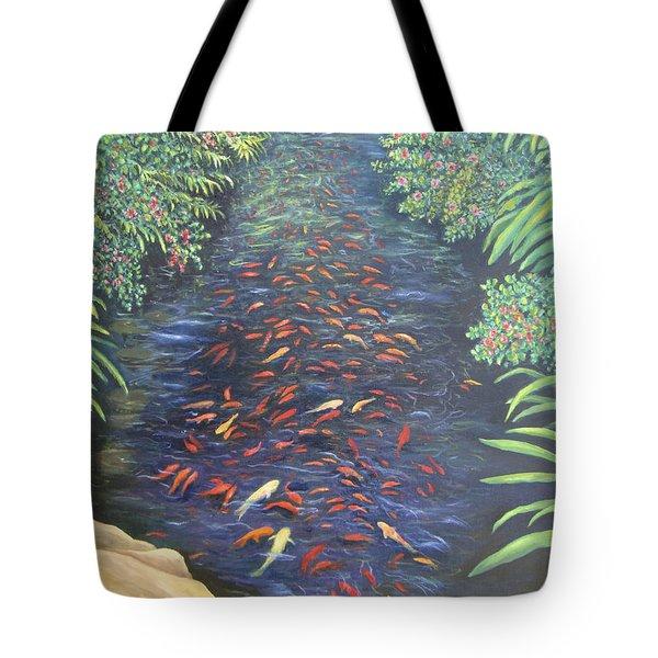 Stream Of Koi Tote Bag