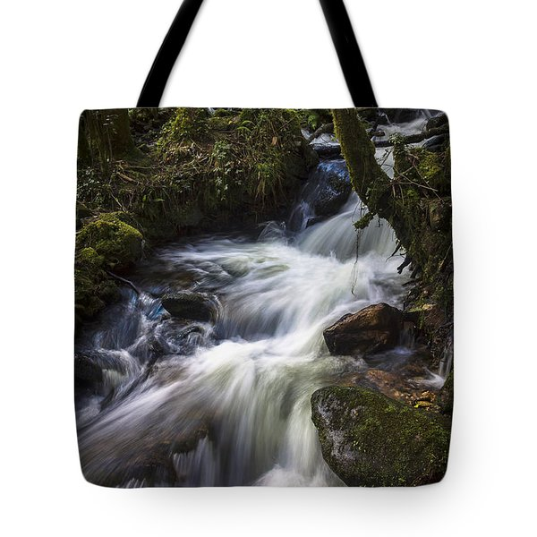 Tote Bag featuring the photograph Stream On Eume River Galicia Spain by Pablo Avanzini