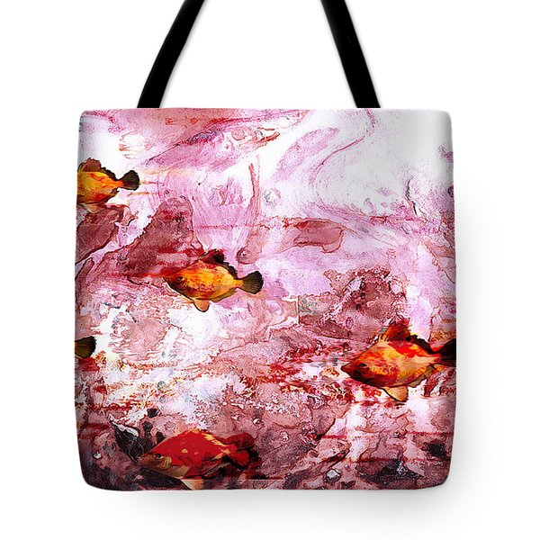 Tote Bag featuring the painting Streaming by Ron Richard Baviello