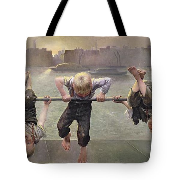Street Arabs At Play Tote Bag by Dorothy Stanley