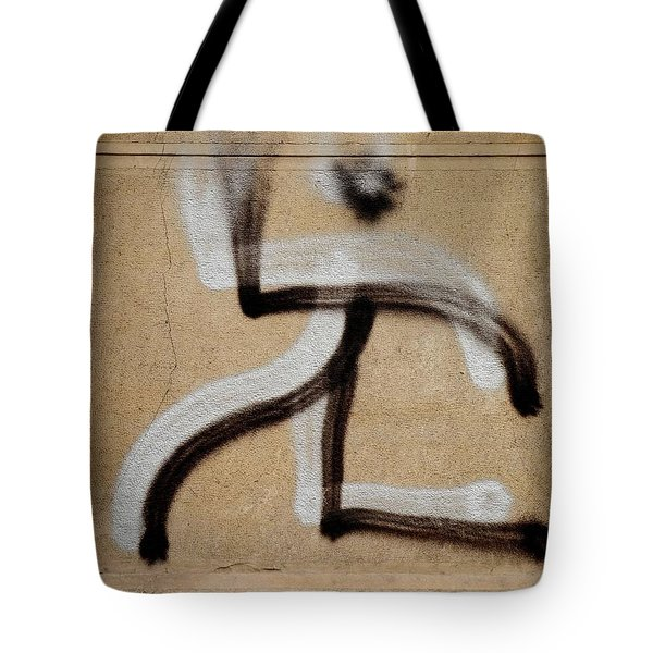 Tote Bag featuring the photograph Street Art 'dablos' Graffiti In Bucharest Romania  by Imran Ahmed