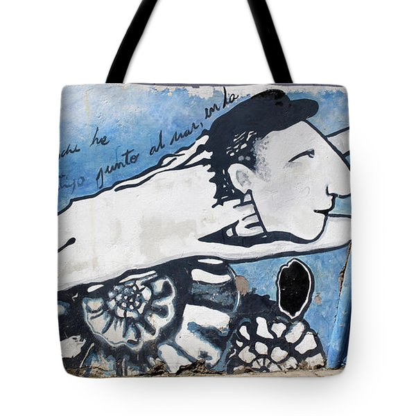 Street Art Santiago Chile Tote Bag by Kurt Van Wagner