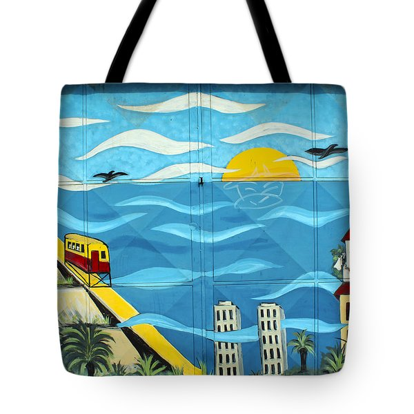Street Art Valparaiso Chile 13 Tote Bag by Kurt Van Wagner