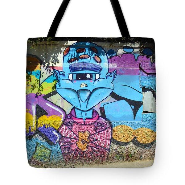 Street Art Valparaiso Chile 9 Tote Bag by Kurt Van Wagner