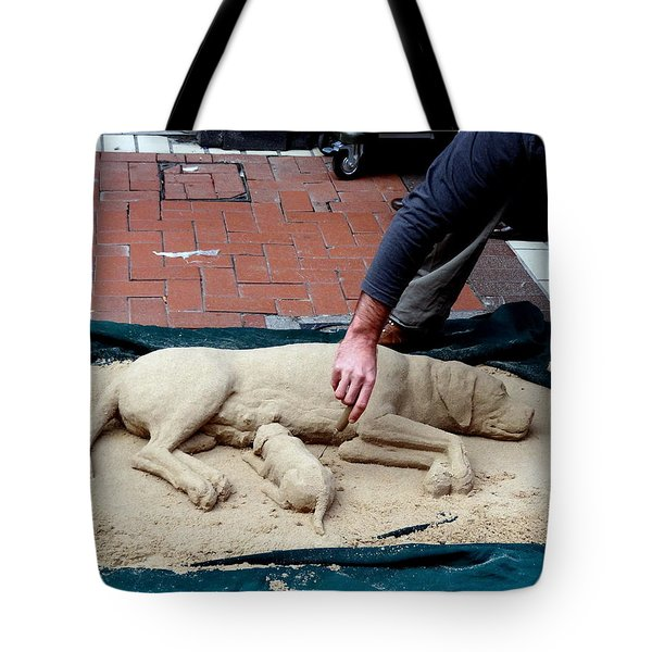 Street Artist Tote Bag by Richard Rosenshein