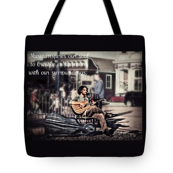 Tote Bag featuring the photograph Street Beats Inspiration by Melanie Lankford Photography