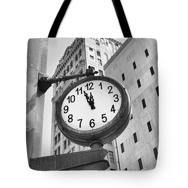 Street Clock Tote Bag