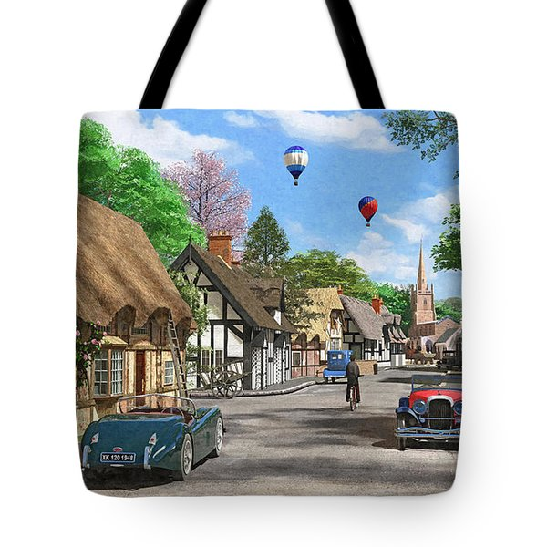 Street Cottage Lane Tote Bag by Dominic Davison