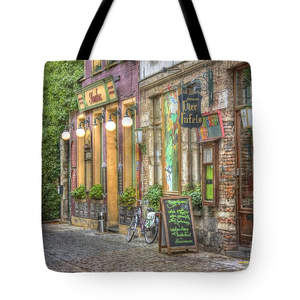 Street In Ghent Tote Bag