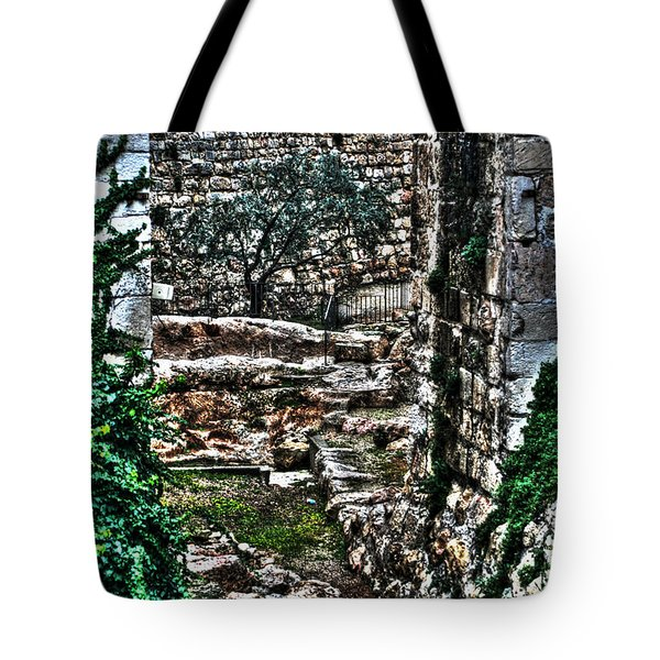 Tote Bag featuring the photograph Street In Jerusalem by Doc Braham