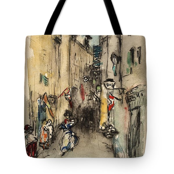 Street In Marseille Tote Bag
